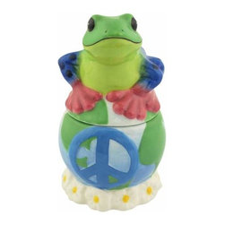WL - 4 Inch Colorful Peace Frog on Planet Earth Salt and Pepper Shakers - This gorgeous 4 Inch Colorful Peace Frog on Planet Earth Salt and Pepper Shakers has the finest details and highest quality you will find anywhere! 4 Inch Colorful Peace Frog on Planet Earth Salt and Pepper Shakers is truly remarkable.