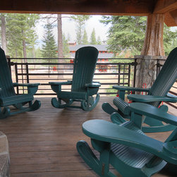 Martis Camp Rocking Chair - The enchanted forest of North Lake Tahoe inspired the creation of this grand yet whimsical porch rocker.