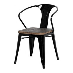 Apt2B - Grand Metal Arm Chair SET OF 4, Black - Meet our newest love - The Grand. Available in a variety of cool colors, you can mix and match to suit your style. Versatile and modern, this counter chair can go anywhere and look grand.
