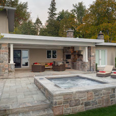 Traditional Patio by Blue Diamond Pools