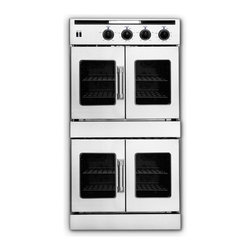 "American Range - Legacy Series AROFFE-230 30"" Double Electric Wall Oven With 4.7 Cu. Ft. Capacity - American Range AROFFE-230 Legacy 30 Double 47 Cu Ft Electric Ovens with French Doors on Upper and Lower Ovens This double electric oven features electric Innovection ovens with infrared broilers each oven Designed and built in America with commercial..."