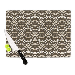"""Kess InHouse - Julia Grifol """"Deco"""" Cutting Board (11.5"""" x 15.75"""") - These sturdy tempered glass cutting boards will make everything you chop look like a Dutch painting. Perfect the art of cooking with your KESS InHouse unique art cutting board. Go for patterns or painted, either way this non-skid, dishwasher safe cutting board is perfect for preparing any artistic dinner or serving. Cut, chop, serve or frame, all of these unique cutting boards are gorgeous."""