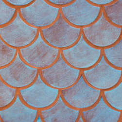 Blue Bell Moroccan Fish Scales - Moroccan Fish Scales - 12R Blue Bell