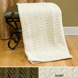 None - Quilted Cable Micro Mink Throw - This quilted mink throw blanket can be draped over a piece of furniture, so it's ready for use when you feel chilled. Lined with soft micro-fiber, this plush blanket makes dozing on the sofa or in a chair as comfortable as sleeping in your bed.