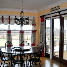 Traditional Kitchen by Lady Dianne's Custom Window & Bed Treatments