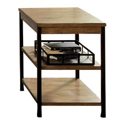 Liberty Furniture Lancaster Factory 24x18 Rectangular Chairside Table in Medium