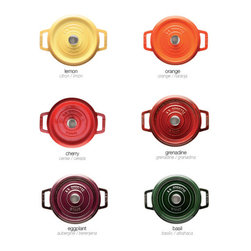 Round Cocotte - I adore these. I want to stuff these Mini Round Cocottes with mac and cheese. Or single portions of eggplant parmesan.