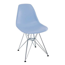 Modway - Paris Dining Side Chair in Blue - These molded plastic chairs are both flexible and comfortable, with an exciting variety of base options. Suitable for indoors or out, appropriate for the living and dinning room, these versatile chairs are a great addition to any home d'cor statement.