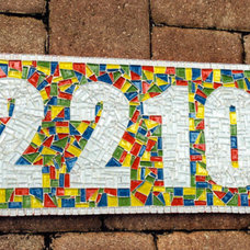 Eclectic House Numbers by Green Street Mosaics