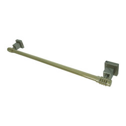 Kingston Brass - 24in. Towel Bar - Kingston Brass' bathroom accessories are built for long-lasting durability and reliability. They are designed so you can easily coordinate matching pieces. Each piece is part of a collection that includes everything you need to complete your bathroom decor. All mounting hardware is included and installation is easy.