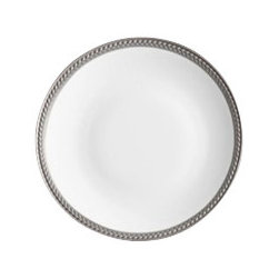 "L'Objet - L'Objet Soie Tressee Platinum Bread and Butter Plate - The braid made modern, Soie Tressee offers a distinct, contemporary take on an ancient shape. Limoges porcelain available in White, hand-gilded 24K Gold, or Platinum. Limoges Porcelain Platinum. Dimensions: 6.5"" L'Objet is best known for using ancient design techniques to create timeless, yet decidedly modern serveware, dishes, home decor and gifts."