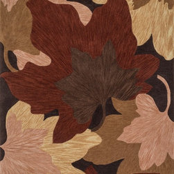 "Loloi Rugs - Loloi Rugs Flora Collection - Brown / Beige, 2'-6"" x 7'-6"" - Flora reinterprets floral prints into bold, over scaled botanicals, with soft touches of color throughout. Hand tufted in China, each rug features gorgeous abrashes details in the design, mimicking the natural imperfections seen in real florals. Hand carved detailing also serves to enhance the pattern. And because Flora is crafted with 100% polyester, shedding is very limited and colors remain strong for years."
