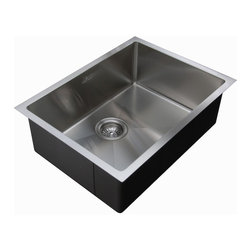 "Ukinox - Ukinox RS558 Single Bowl Under mount Sink - The RS558 is a sharp, professional style undermount sink with the hygienic benefit of our new ""Mirco"" radius corner. The slightly curved 15-degree radius corners allow for easier cleaning while still providing the sharp angles like the pros use."