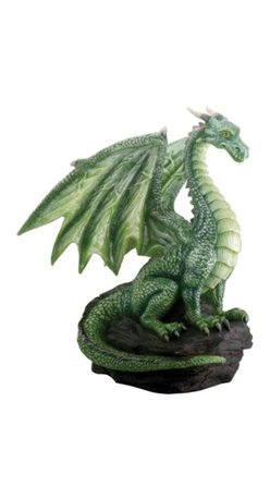 Summit - Green Dragon on Rock Fantasy Figurine Decoration Decor Collectible - This gorgeous Green Dragon on Rock Fantasy Figurine Decoration Decor Collectible has the finest details and highest quality you will find anywhere! Green Dragon on Rock Fantasy Figurine Decoration Decor Collectible is truly remarkable.