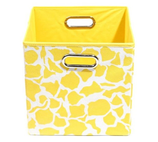 Modern Littles - Rusty Giraffe Folding Storage Bin - Keeping track of kids' stuff is kid stuff when you've got this clever, colorful bin. It holds it all — toys, books, blankets — and looks great doing it, plus handles make toting your load a breeze.