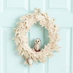 Felted Owl Wreath