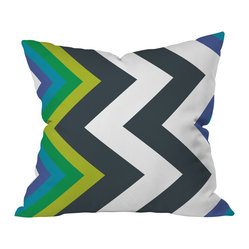 Karen Harris Modernity Galaxy Cool Chevron Throw Pillow, 18x18x5