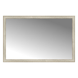 """Posters 2 Prints, LLC - 51"""" x 33"""" Libretto Antique Silver Custom Framed Mirror - 51"""" x 33"""" Custom Framed Mirror made by Posters 2 Prints. Standard glass with unrivaled selection of crafted mirror frames.  Protected with category II safety backing to keep glass fragments together should the mirror be accidentally broken.  Safe arrival guaranteed.  Made in the United States of America"""