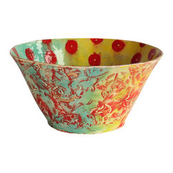 Happy Clay - Handmade Ceramic Serving Bowl in Tahitian Gypsy - The Primitive Opulent.