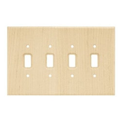 Liberty Hardware - Liberty Hardware 126797 Wood Square WP Collection 5.67 Inch Switch Plate - A simple change can make a huge impact on the look and feel of any room. Change out your old wall plates and give any room a brand new feel. Experience the look of a quality Liberty Hardware wall plate. Width - 5.67 Inch, Height - 8.9 Inch, Projection - 0.3 Inch, Finish - Unfinished Wood, Weight - 0.24 Lbs.