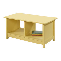 Sauder - Sauder Original Cottage Coffee Table in Melon Yellow - Sauder - Coffee Tables - 414157