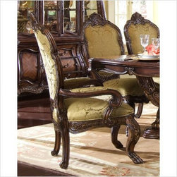 AICO Furniture - Chateau Beauvais Arm Chair in Noble Bark (Set of 2) - 75004 - Noble Bark finish
