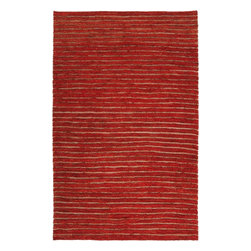 Surya - Natural Fiber Dominican 2'x3' Rectangle Rust Red-Blond Area Rug - The Dominican area rug Collection offers an affordable assortment of Natural Fiber stylings. Dominican features a blend of natural Rust Red-Blond color. Handmade of 100% Hemp the Dominican Collection is an intriguing compliment to any decor.