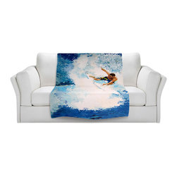 DiaNoche Designs - Throw Blanket Fleece - Catch the Next Wave Surfing - Original Artwork printed to an ultra soft fleece Blanket for a unique look and feel of your living room couch or bedroom space.  DiaNoche Designs uses images from artists all over the world to create Illuminated art, Canvas Art, Sheets, Pillows, Duvets, Blankets and many other items that you can print to.  Every purchase supports an artist!