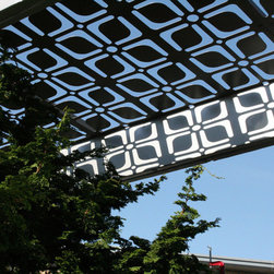 pergola shade screen - a instillation i did on a rooftop deck in chicago