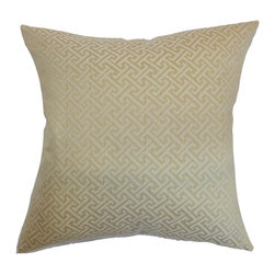 Pillow Collection - The Pillow Collection Karpathos Greek Key Pillow - Gold - P18-D-31886-GOLD-P100 - Shop for Pillows from Hayneedle.com! Featuring one of the most classic designs in history The Pillow Collection Karpathos Greek Key Pillow - Gold adds a touch of opulence to your home. Made of 100% polyester this elegant square pillow features a plush 95/5 feather/down insert for luxurious softness. The handsome look of the ivory and gold Greek key print shows off your amazing style.About The Pillow CollectionIdentical twin brothers Adam and Kyle started The Pillow Collection with a simple objective. They wanted to create an extensive selection of beautiful and affordable throw pillows. Their father is a renowned interior designer and they developed a deep appreciation of style from him. They hand select all fabrics to find the perfect cottons linens damasks and silks in a variety of colors patterns and designs. Standard features include hidden full-length zippers and luxurious high polyester fiber or down blended inserts. At The Pillow Collection they know that a throw pillow makes a room.