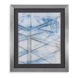 Bassett Mirror - Bassett Mirror Framed Under Glass Art, Cloud Spectrum II - Cloud Spectrum II