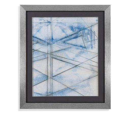 Bassett Mirror - Bassett Mirror Framed Under Glass Art, Cloud Spectrum II - Cloud Spectrum II