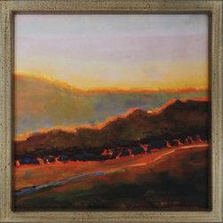 Paragon Decor - Western Sunset Artwork - The shades of earth blaze to life in the light of the setting sun.