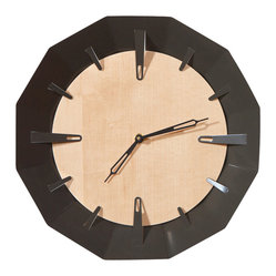 Caldera Wall Clock, Warm Gray