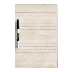 Schppr Wrinkled White Ruled School Lined Paper Edu Dry-Erase Whiteboard - Leave family notes and reminders on this wide-ruled whiteboard.