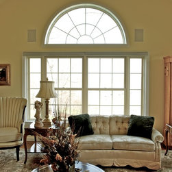 Treesdale Townhouse Project - Interior of Living Room  - Photographs by: Metropolitan Window Company 800-655-8411