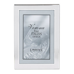 Lawrence Frames - Brushed Silver 4x6 Metal Picture Frame - Contemporary silver metal picture frame with brushed satin silver metal front.  Beautiful black velvet backing with an easel for vertical or horizontal table top display.    High quality 4x6 metal picture frame is made with exceptional workmanship and comes individually boxed.