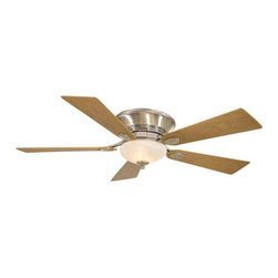 Minka Aire - Minka Aire Delano II Ceiling Fan in Pewter - Minka Aire Delano II Model F711-PW in Pewter with Delano Natural Walnut Finished Blades. Integrated light fixture for Delano II Flush Mount. PW finish comes with Etched Marble Glass. DRB finish comes with Rustic Scavo Glass.