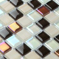 2013 New glass stone metal blend mosaic tile for kitchen backsplash COB0042 - Collection: Crystal glass tile