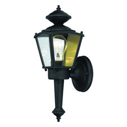 Hardware House - Black Outdoor Patio / Porch Exterior Light Fixture - Finish:Textured Black