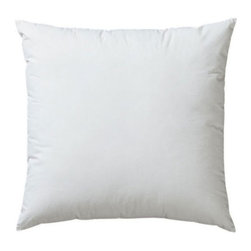 "Down Alternative 16"" Pillow Insert - Super-soft synthetic accent pillow insert with 100% polyester synthetic down fill. Wrapped in 100% cotton shell."