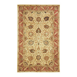 """Safavieh - Persian Legend Brown/Red Area Rug PL516A - 3'6"""" x 3'6"""" Round - Inspired by the legendary designs of Persia's most prestigious rug-weaving capitals, these extraordinary reproductions recreate some of the most prized antiques in Safavieh's archival collection. Intricate Tabriz, Lavar Kerman and Isfahan hand-knotted motifs are remarkably adapted to these hand-tufted rugs of incomparable quality. The finest New Zealand wool is chosen to achieve the intricate weave of these carpets. With utmost attention to every detail, Safavieh creates its Persian Legends Collection in India to provide consumers an exquisite yet affordable artisan-crafted look."""