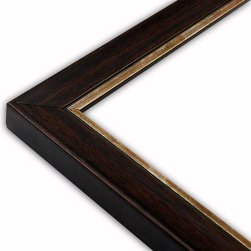 The Frame Guys - Contemporary Walnut with Copper Lip Frame-Solid Wood, 11x17 - *Contemporary Walnut with Copper Lip Frame-Solid Wood, 11x17