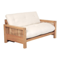 Discount Beds Clarence Futon Double Pine Frame Traditional