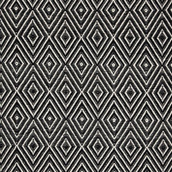 Diamond Black/Ivory Indoor/Outdoor Rug - Adding a little something underfoot is a great idea for outside. I love the texture of these rugs!