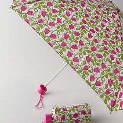 """Vera Bradley - Vera Bradley """"Lilli Bell"""" Umbrella - The umbrella is back with more color than ever! With a coordinating wrist strap and handle, auto open and close functionality, and a snap tab closure with matching sleeve, you might actually look forward to a slight summer shower. 11""""L closed. Wipe cl..."""