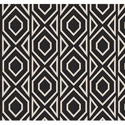 Roca in Onyx - How great is the large-scale woven fabric Roca in Onyx? Find it in the Briza living room used to create a custom folding screen.