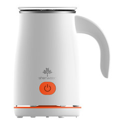 Sherwood Housewares - Sherwood Automatic Electric Milk Frother, Orange - * Hot Froth, Hot Milk or Cold Froth