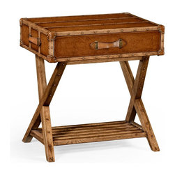 Jonathan Charles - New Jonathan Charles Side Table Travel Trunk - Product Details