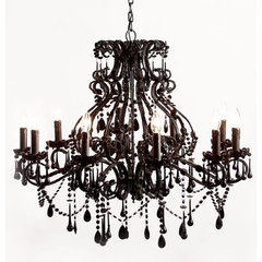 traditional chandeliers Black Magic 10 Arm Chandelier